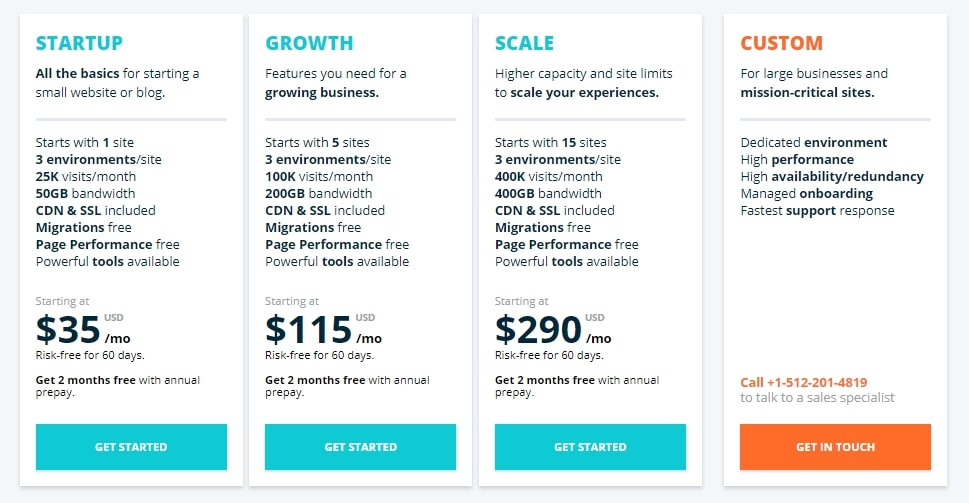 WP Engine Plans & Pricing