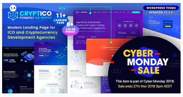 Cryptico WordPress Theme