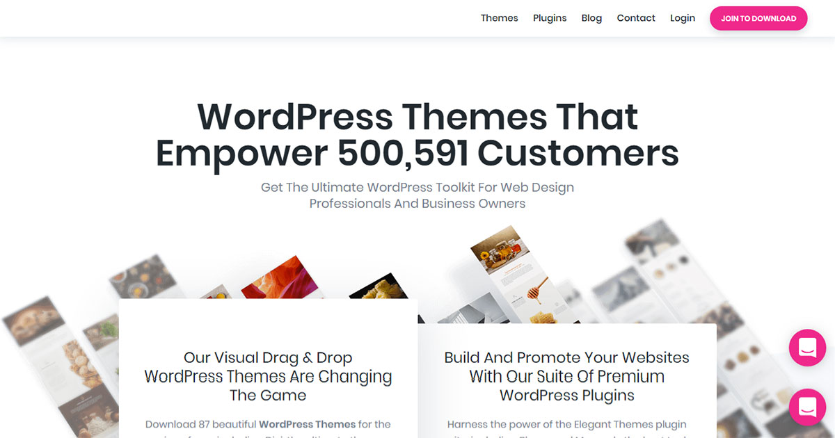 Specs For  WordPress Themes Elegant Themes
