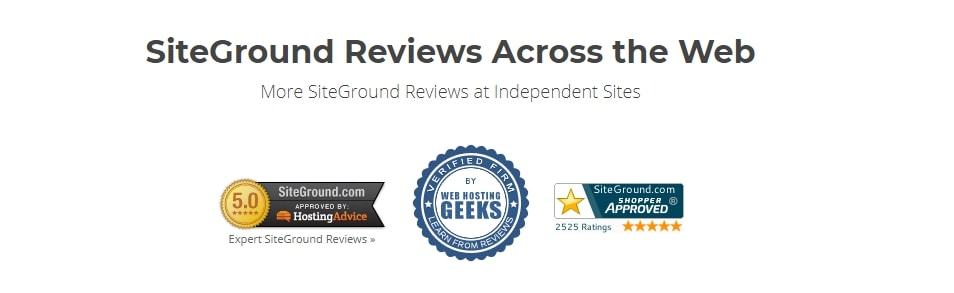 SiteGround Customer Reviews