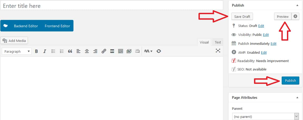 Add Page and Post To WordPress Website Step 4