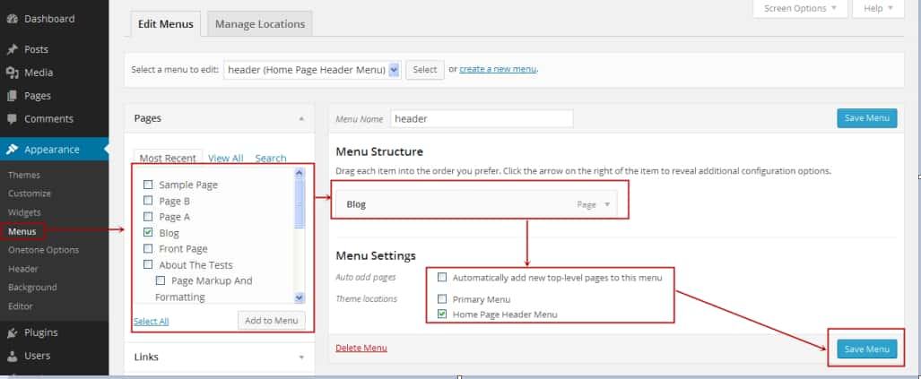 Add Page and Post To WordPress Website Step 5