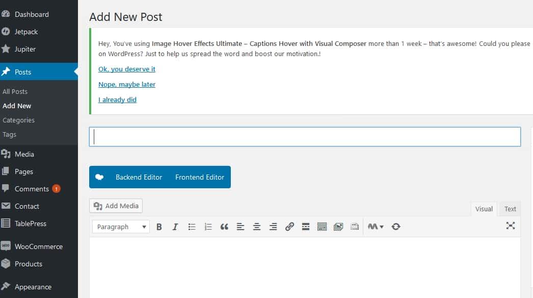 Add Post To WordPress Website Step 1