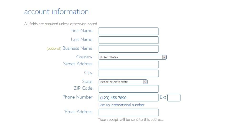 Bluehost Signup Information