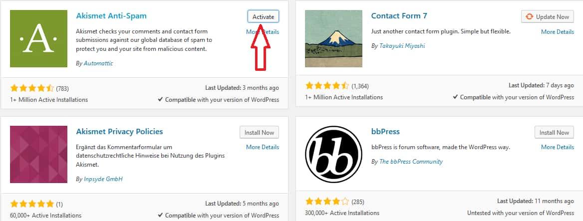 How To Install a WordPress Plugin Step 3