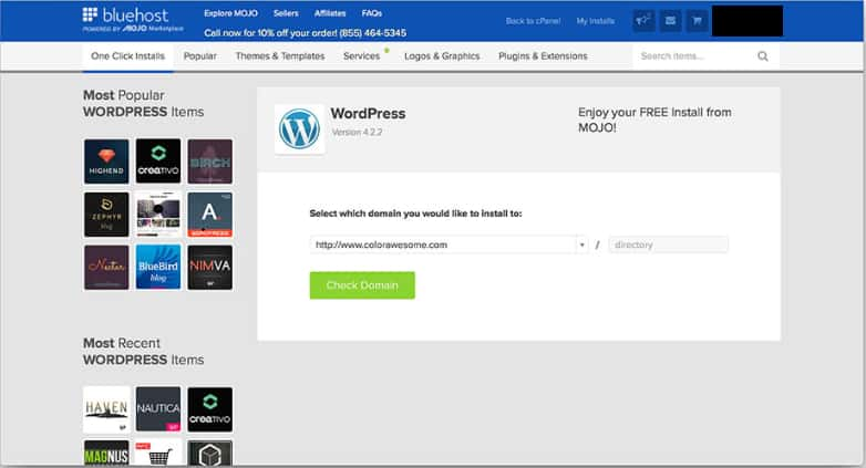 How To Install WordPress Step 3