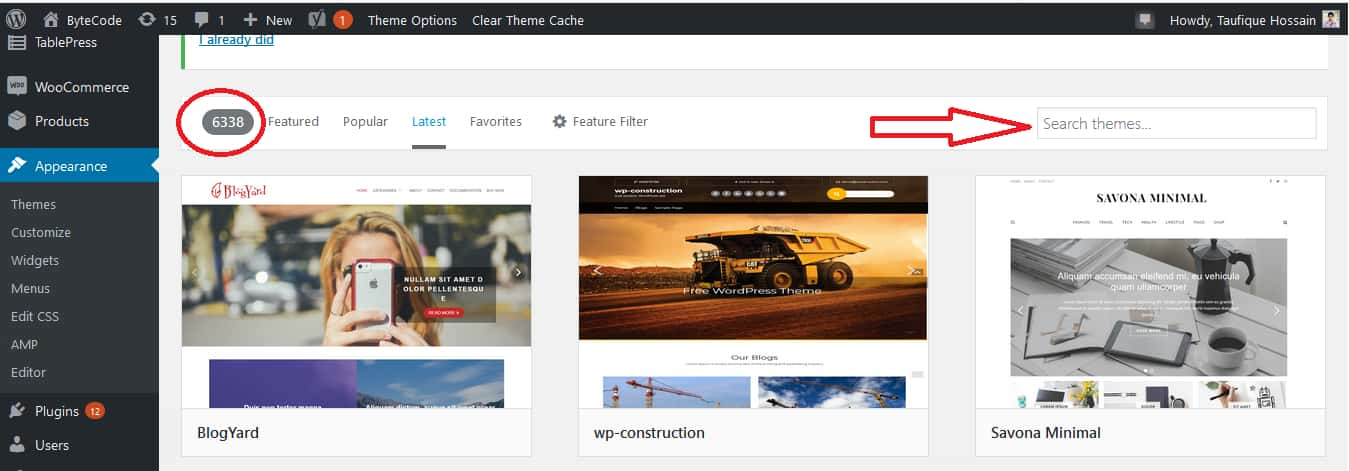 How To Select A WordPress Theme Step 3