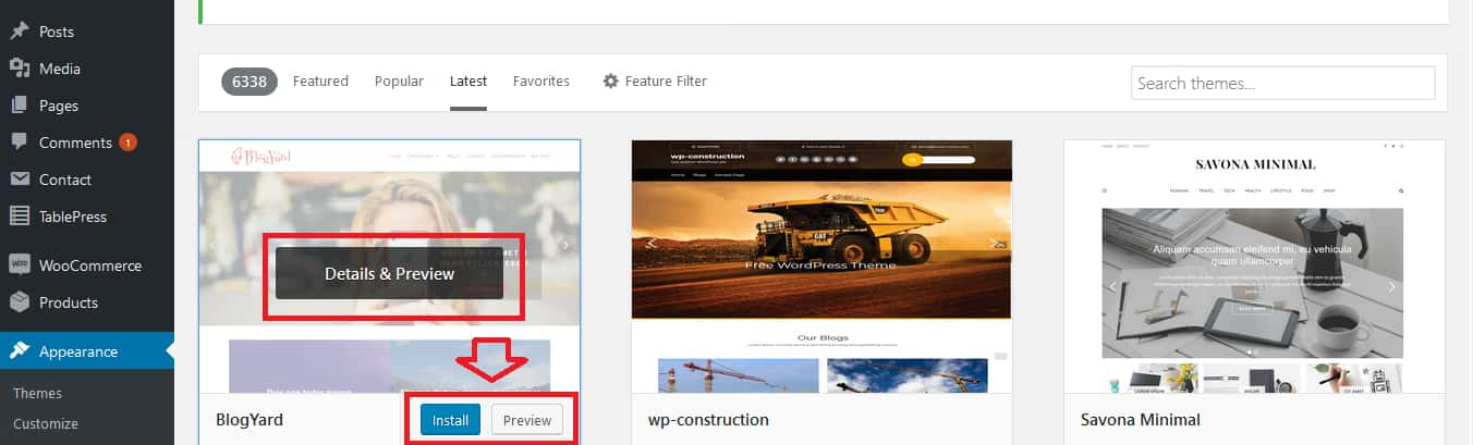 How To Select A WordPress Theme Step 4