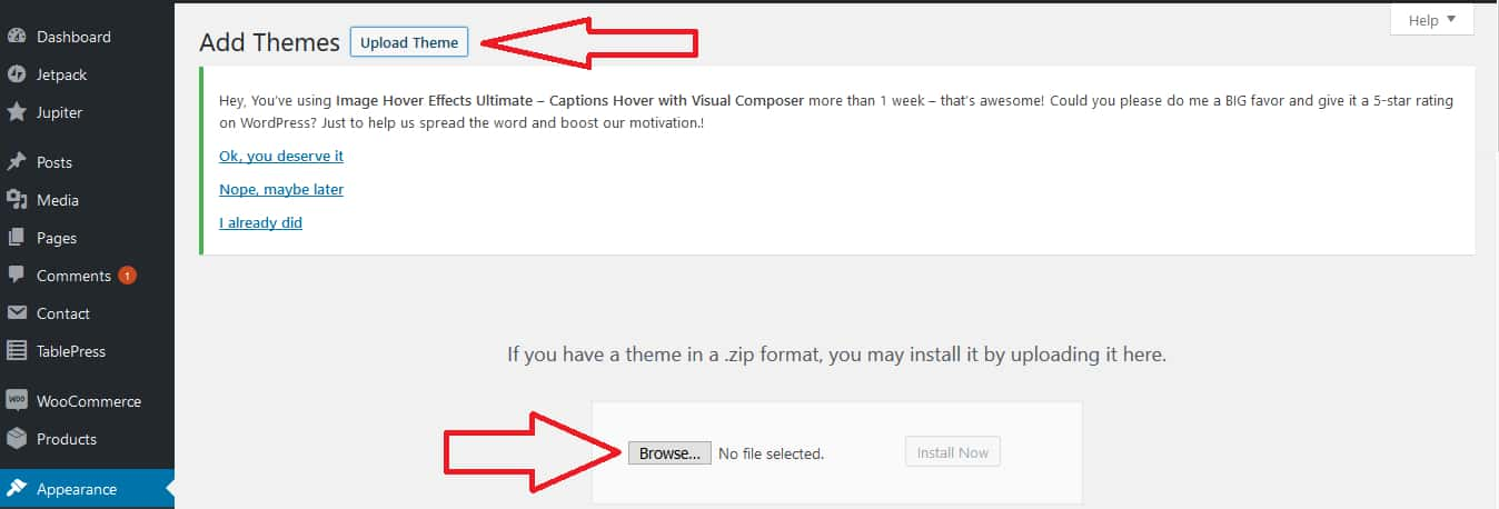 How To Select A WordPress Theme Step 5