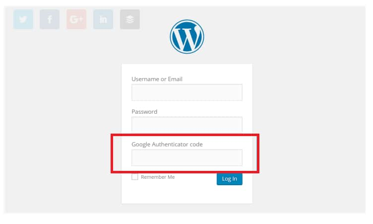 Add Two-Factor Authentication In WordPress Step 2