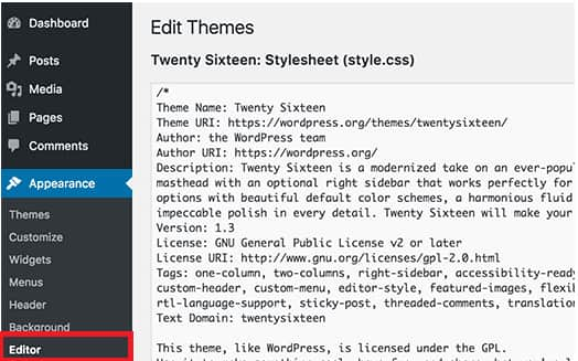 Disable Editing Files From WordPress Editor