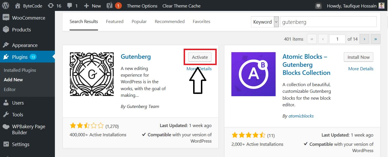 How To Install Gutenberg WordPress Editor Step 2