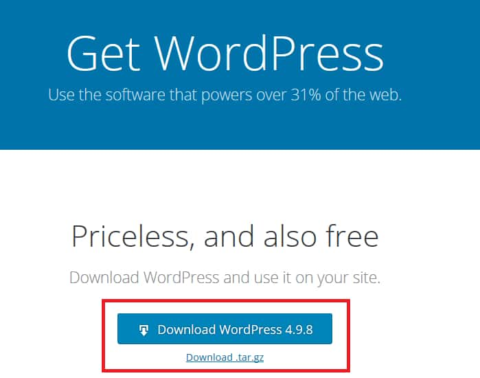 How To Setup WordPress Using FTP Step 1
