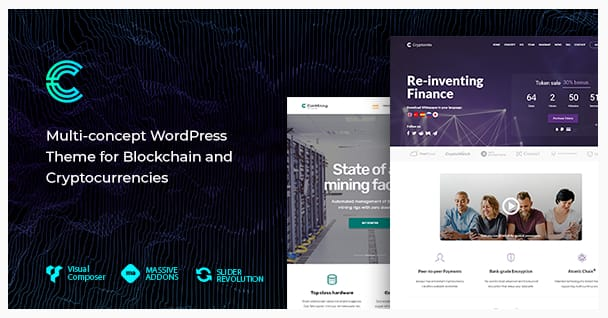 Cryptonite WordPress Theme