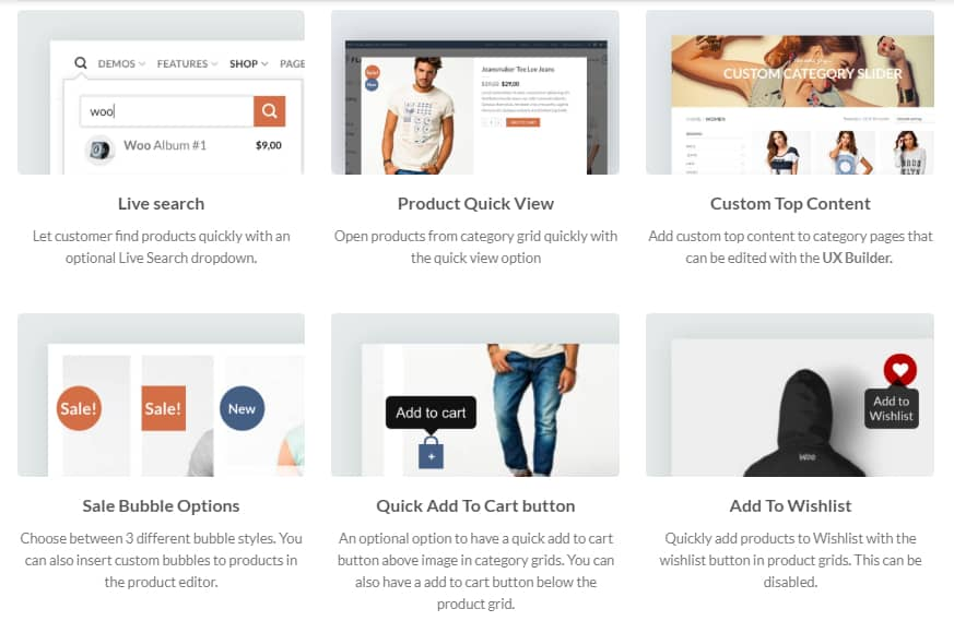 Flatsome Theme WooCommerce Features