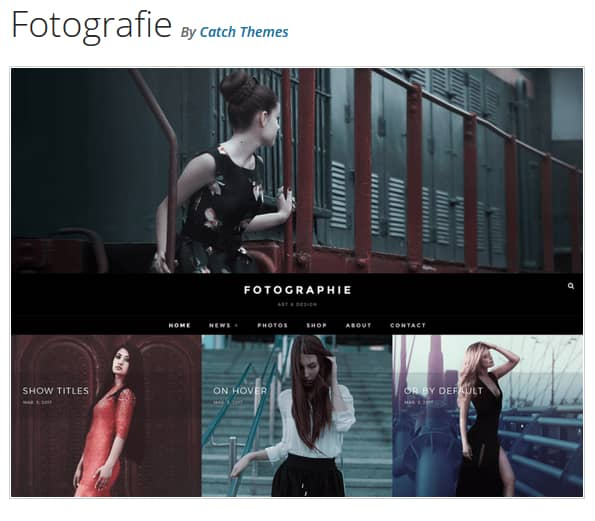 Fotografie WordPress Theme
