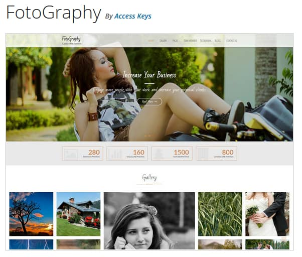 FotoGraphy WordPress Theme