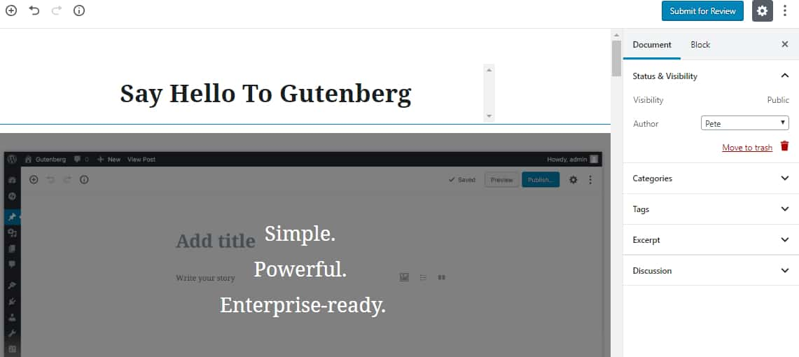 WordPress 5 Gutenberg Editor
